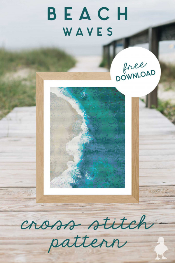 beach waves cross stitch
