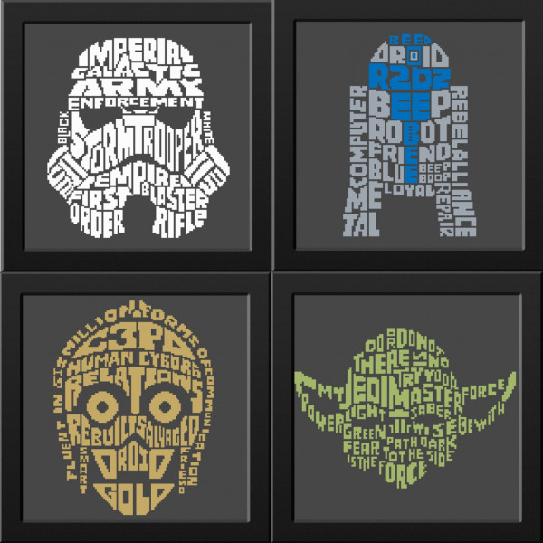 Star Wars Word Art Character Cross Stitch – Cross-Stitch