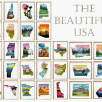 Stitch the 50 States in Cross Stitch