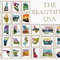 Stitch the 50 States in Cross Stitch