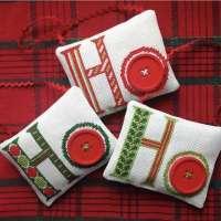 Ho Ho Ho Cross Stitch Ornaments