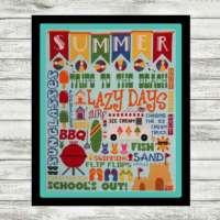 Summer Subway Art Cross Stitch Pattern