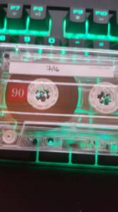 A cassette that was receieved by Hello Games