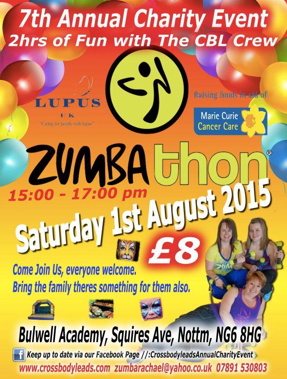 zumbathon charity flyer 2015