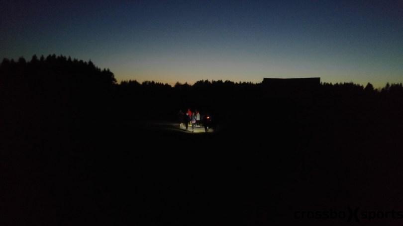 Nachtlauf mit Stirnlampe