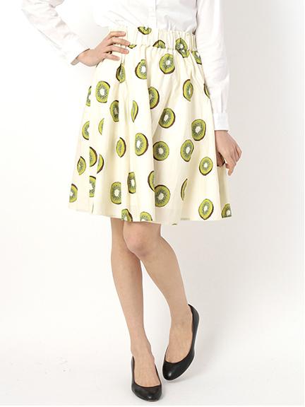 フルーツ柄フレアスカート