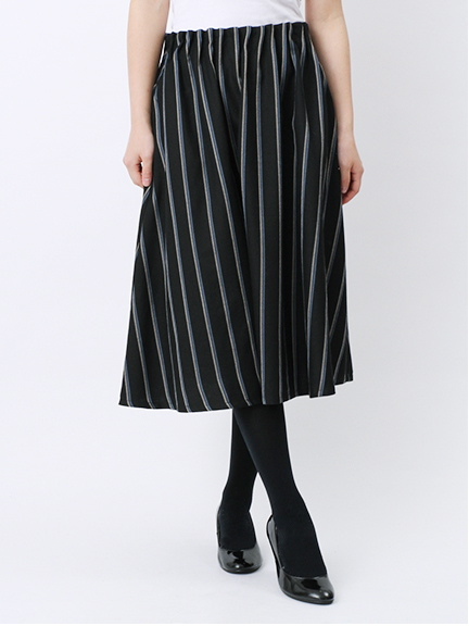 レジメントストライプインベルスカート