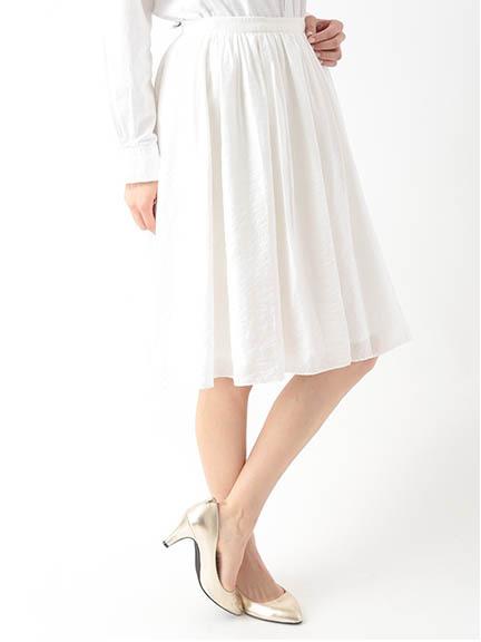 スパンボイルギャザースカート 1501235-12-12-11
