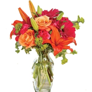 fall flowers in a vase