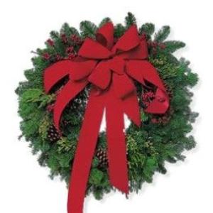 christmas wreath balsam holiday