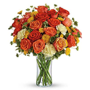 roses carnations orange fall flowers