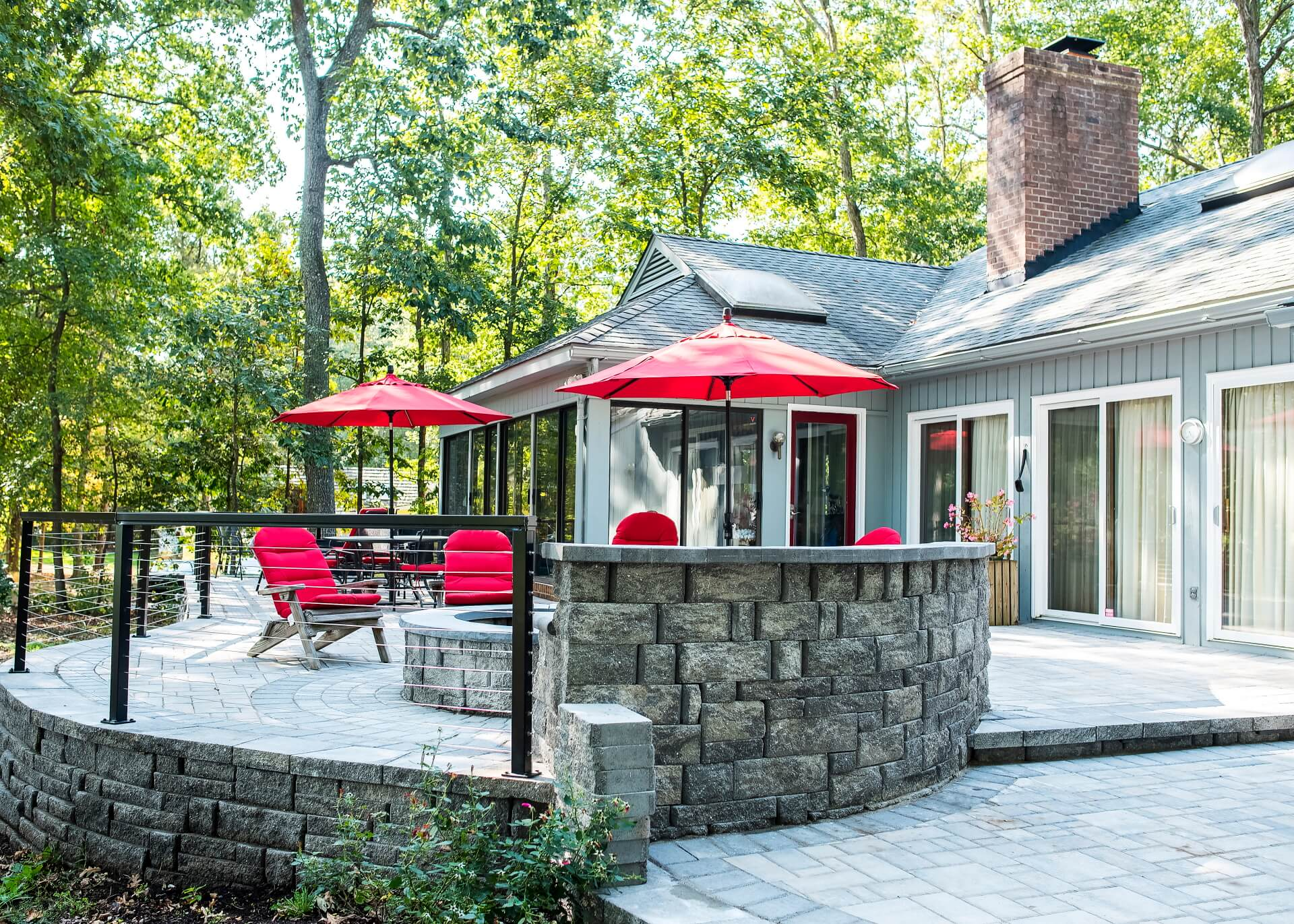 outdoor patio, paver stone
