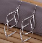 Silver Twist Hook Earrings