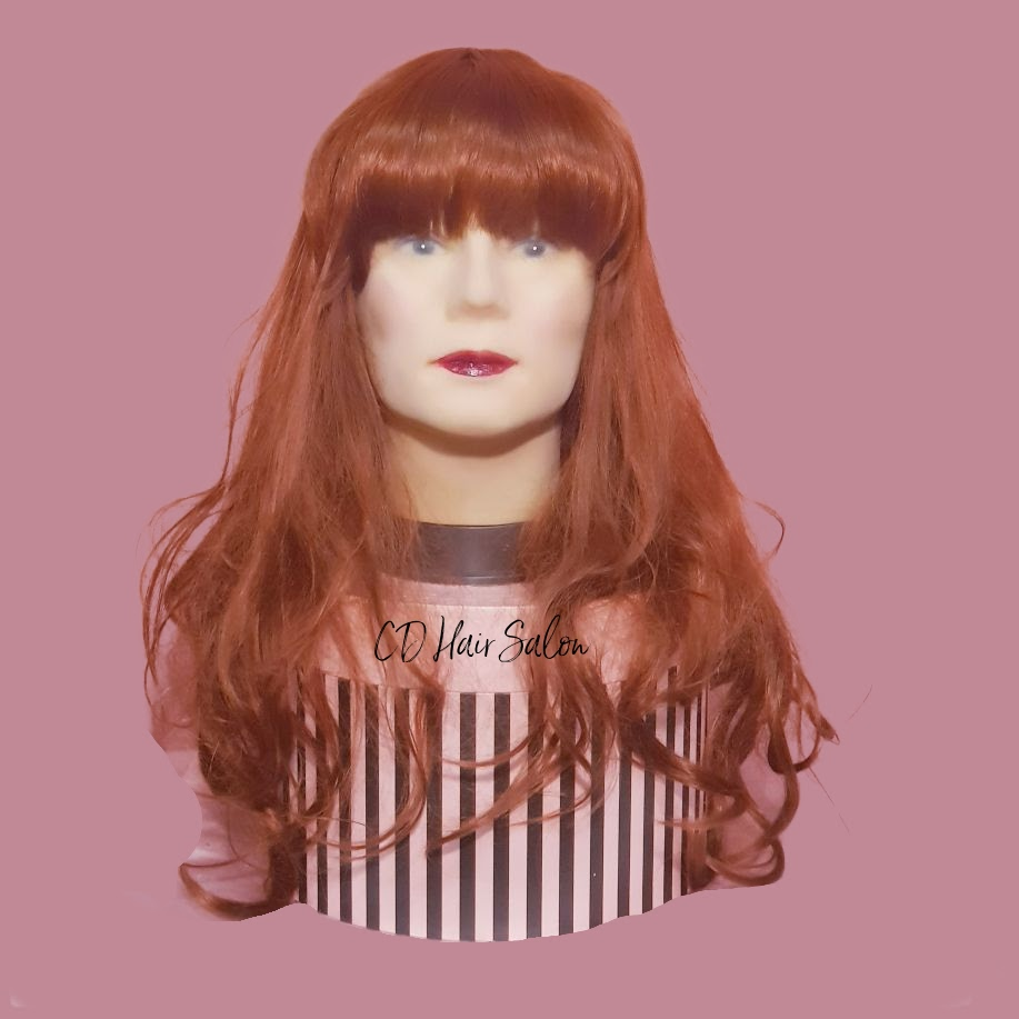 01- long red hair with fringe