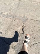 pothole & foot