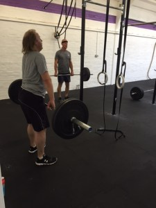 Jed and Simon deadlifting