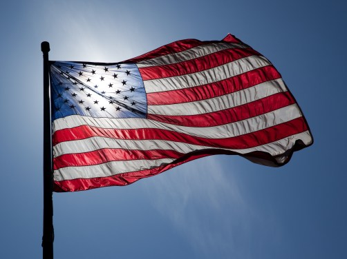 us-flag-backlit