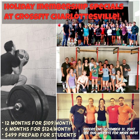 holiday member specials