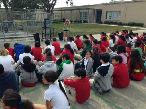 CCP supporting the community.. Coach Jen letting the kids know importance of health!!