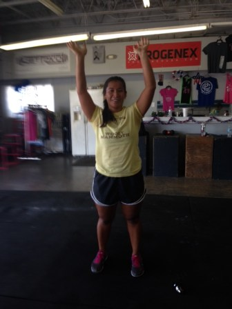 Happy Birthday!!! Maita! Great job on adding 10 extra reps to WOD #1 and shaving 40 seconds off your mile!!!