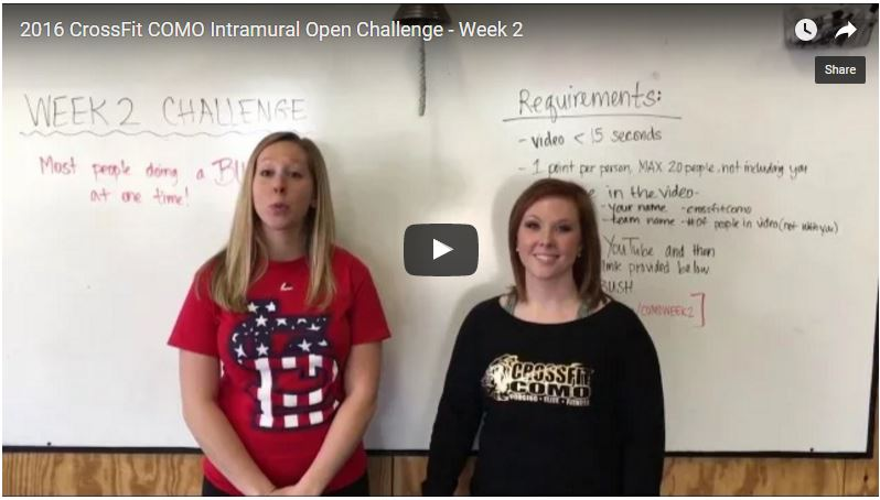 2016 CrossFit COMO Intramural Open Week 2 – Challenge