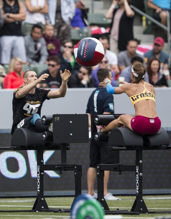 Just playing a little catch on a GHD machine Photo courtesy of Reebok Crossfit Games 2013