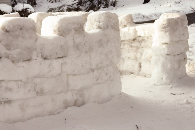Snow forts!