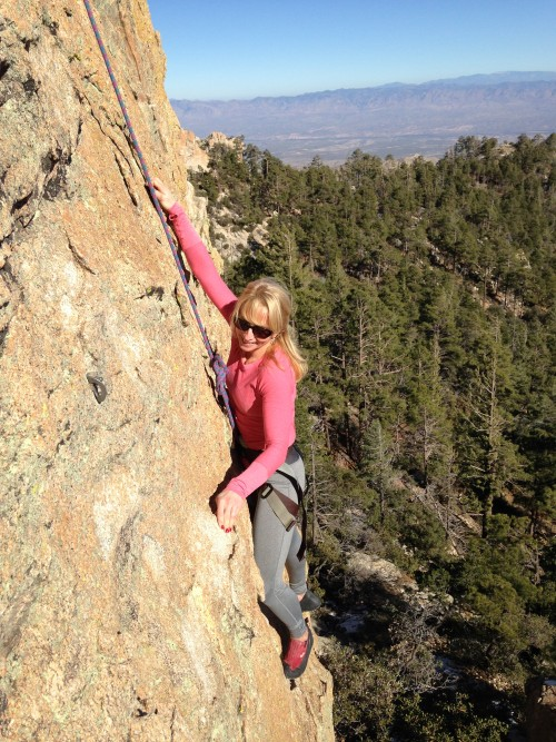Kathy Langen conquering some fears in Arizona with MA Jen.  #functionalfitness