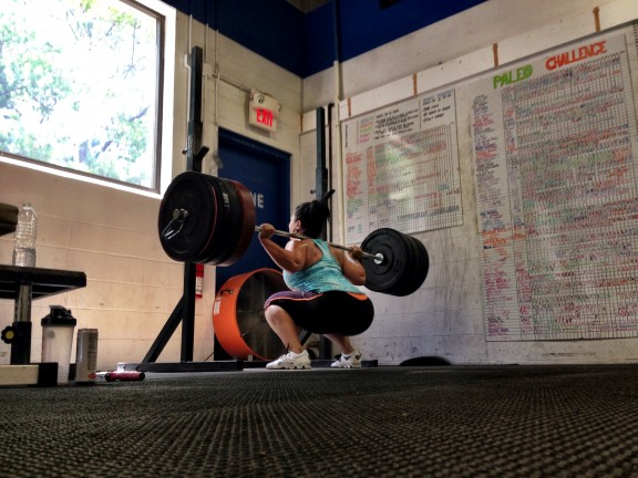Kristen with a 275# back squat! Holy Squat Batman!