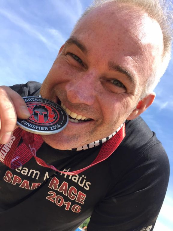 Lewis crushed a Spartan Race yesterday and then ate his metal for good measure! Full of iron!