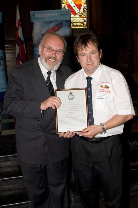 Crosshaven crew receive a Meritorious Service Award at the RNLI Ireland Awards Ceremony at the Royal Hosital Kilmainham on 26 May 2007