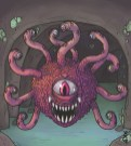 MONSTER BACKGROUNDS - BEHOLDER ANGRY