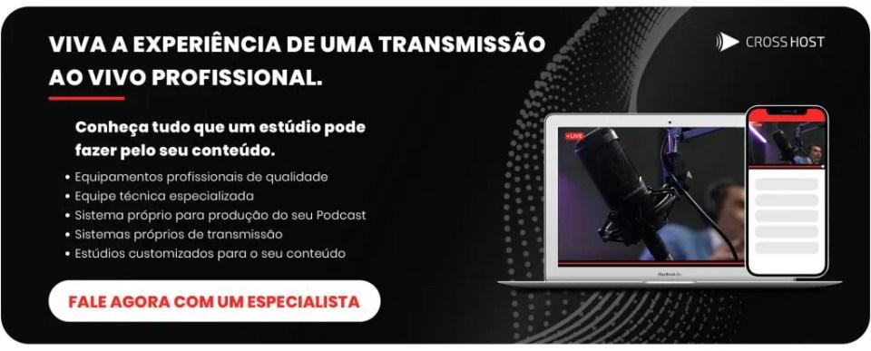 transmissão ao vivo profissional e equipamentos para lives