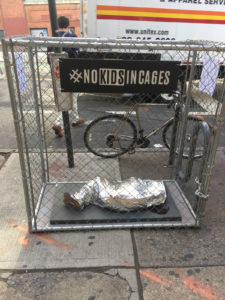 No Kids In Cages portable installation (USA)