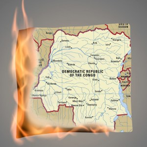 Burning map of DR Congo - Climate Migration and DR Congo
