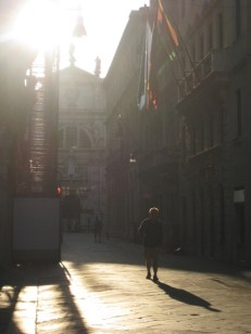Day 17: Sunrise on a street in Venice