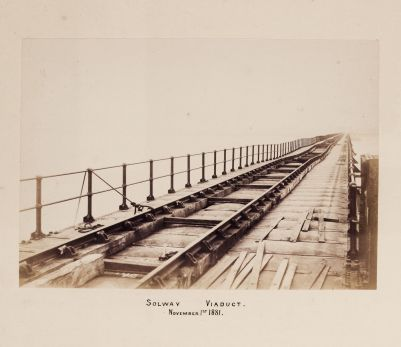 The (damaged) track bed in 1881