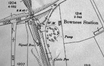 OS map of Bowness station