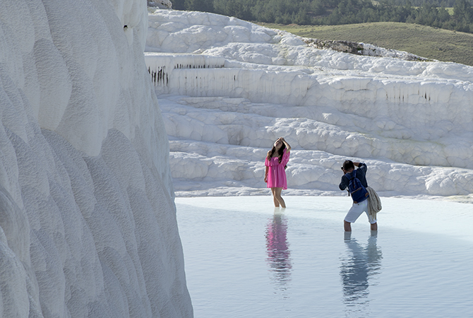 Posing in Pool Pamukkale