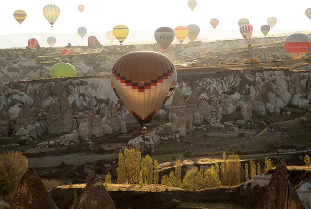 Sunrise - Balloons in Landscape