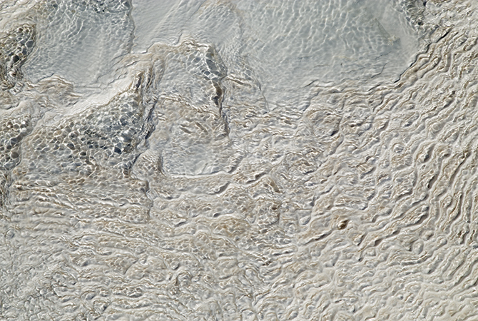 Travertine stone detail
