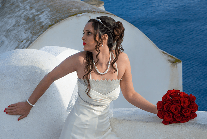 Bride with Roses
