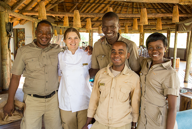 Warm smiles from some of the staff at Xigera Camp in Botswana, a wonderful group of people who make the trip even more unforgettable.