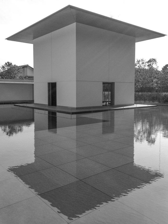 D. T. Suzuki Museum building and reflecting pool.