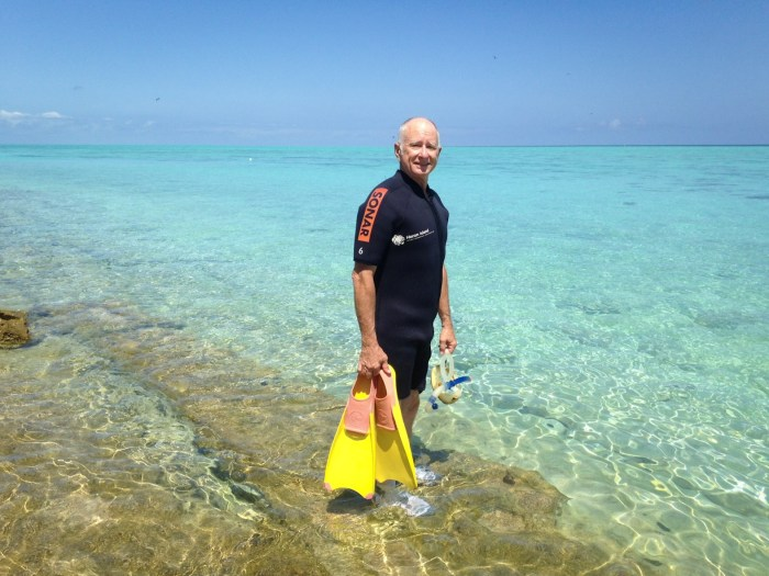 Thomas Lemke at Great Barrier Reef