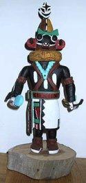 Hopi Kachina carving. This is symbolic of the Kachina spiritual