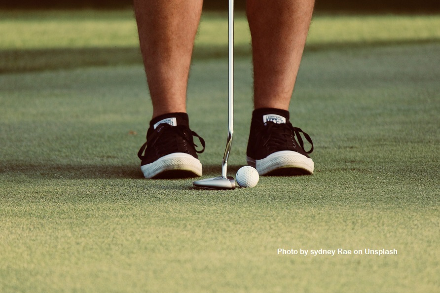 The truth about pain is that, like the golfer pictured; we often line ourselves up for the shot of pain we experience.