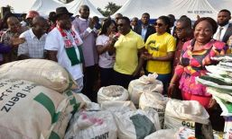 Image result for Ayade celebrates birthday with refugees