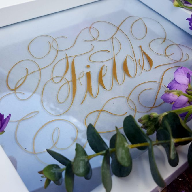 """Fields"" as a calligraphy event sign"