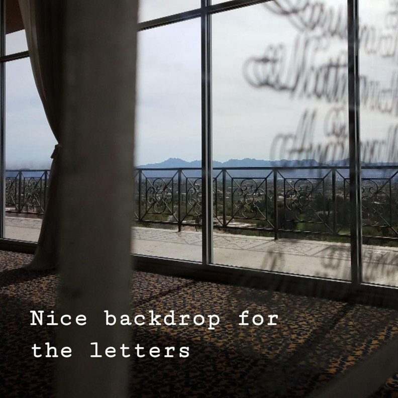 Backdrop for Letters